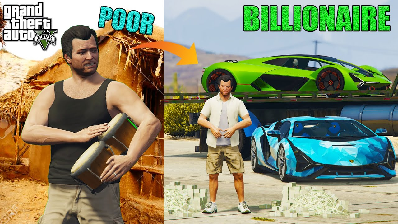 GTA 5 - POOR MICHAEL BECOME BILLIONAIRE IN GTA 5 #Shorts