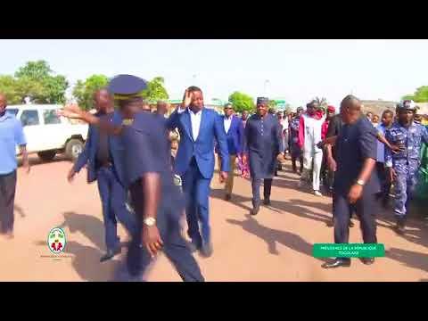 Togo :Visite surprise du Président de la République au marché de Niamtougou