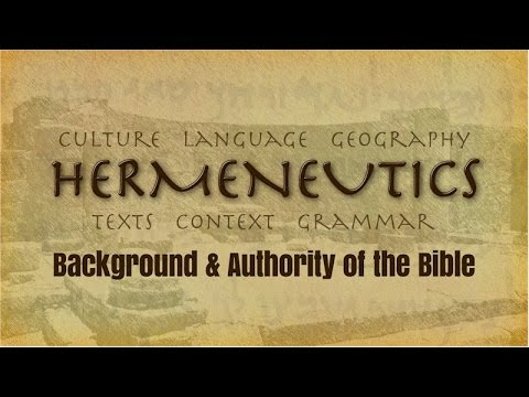 TH101 - Lesson 3, part 4: Divine Authorship - Conclusions