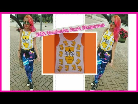 DIY: Camiseta do Bart Simpson