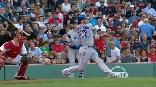 Josh Donaldson bat hits umpire after his swing thumbnail