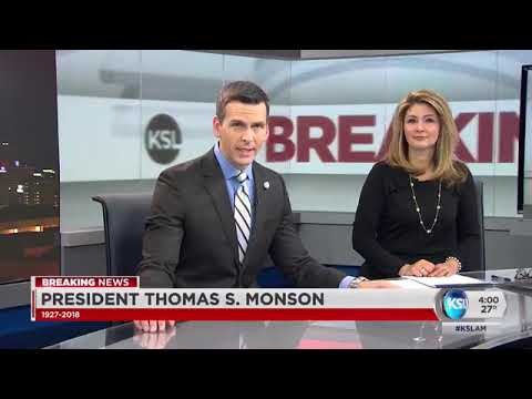 KSL 5 TV Coverage of the passing of LDS Church President Thomas S Monson ⛪️