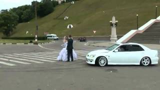 New No Boring Ceremony For This Couple  Car Drifts Around Them During Their Wedding!