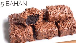 Download Hanya 5 Bahan, Kue Coklat Bar Tanpa Oven