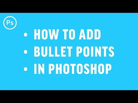 How To Add Bullet Points | Photoshop Tutorial