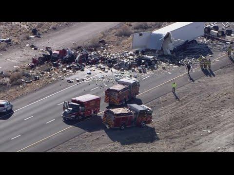 Two dead following semi crash on I-40 near Route 66 Casino