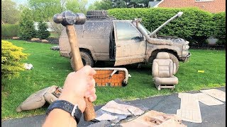 COMPLETELY STRIPPING THE BLAZER! (Found More Water Damage) + Putting a Deposit on a C8 Corvette!!!