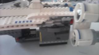 Обзор лего корабля из Star wars: изгой один(Истребитель ювинг)