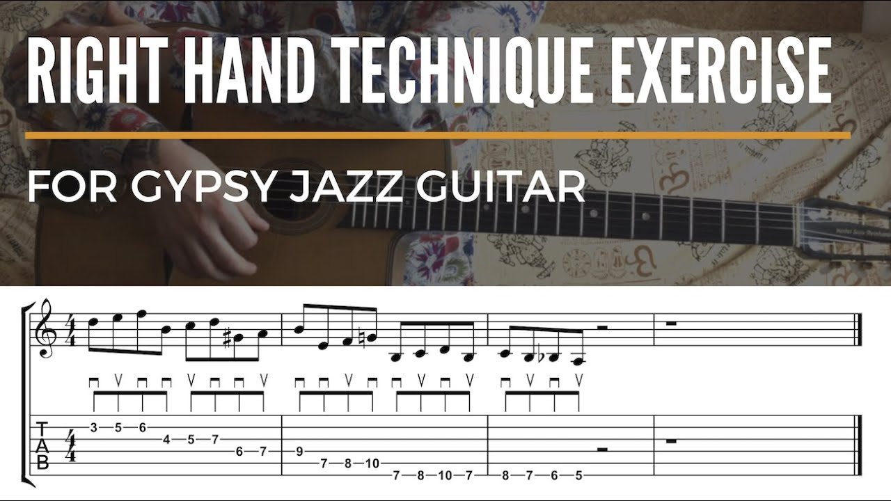 Gypsy Jazz Guitar Lesson - Right Hand Technique Exercise