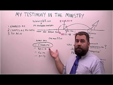 Testimony of How God got me into the Ministry