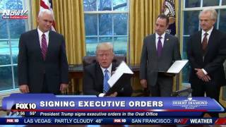 FNN: President Trump Signs Executive Orders In The Oval Office thumbnail