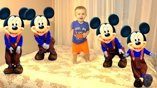 Five Little Babies Jumping on the Bed | Kids Song with Mickey Mouse
