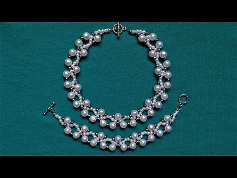 DIY Wedding Jewelry Inspiration. How to make easy pearl necklace and bracelet set