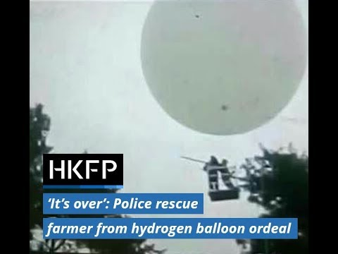 Farmer rescued after 50km ordeal in a hydrogen balloon used to harvest cones
