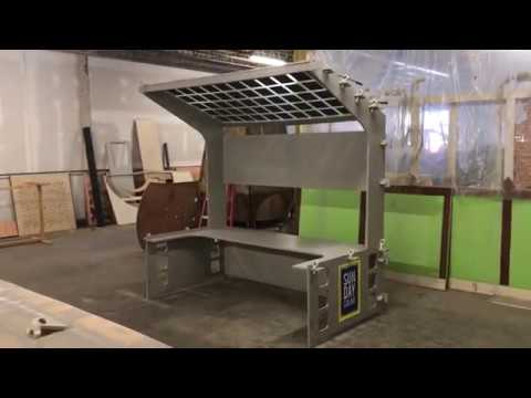 Event Trade Show Booth Kiosk with Transparent Solar Panel Roof