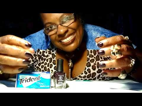 ASMR: WHISPERING, TAPPING, CHEWING GUM, DOING MY NAILS!! By: