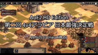 【Age of Empires II DE】20/05/03 第2回4vs4アラビア日本最強決定戦(masa4視点)
