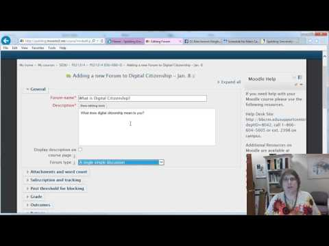 Getting Started with Moodle and creating an online discussion