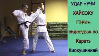 "УРОКИ Каратэ Киокушинкай - Удар ""Учи Хайсоку Гери"" урок № 8 (Uchi Haisoku Gerie)"