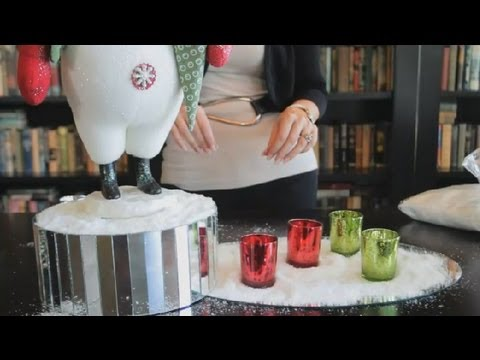 Table Decorating Ideas for Mirrors & Fake Snow : Unique Interior Decorating Ideas