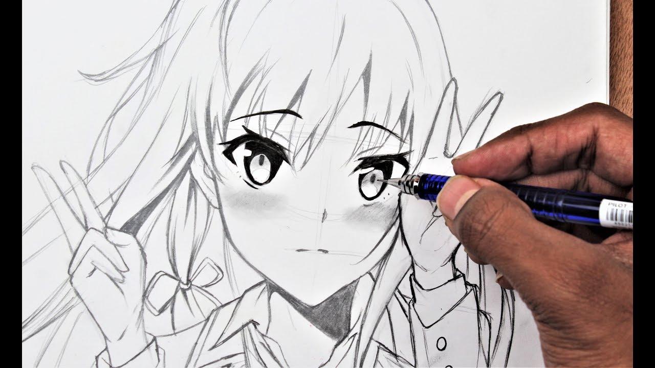 How TO Draw A Cute Anime Girl -yukino  OREGAIRU