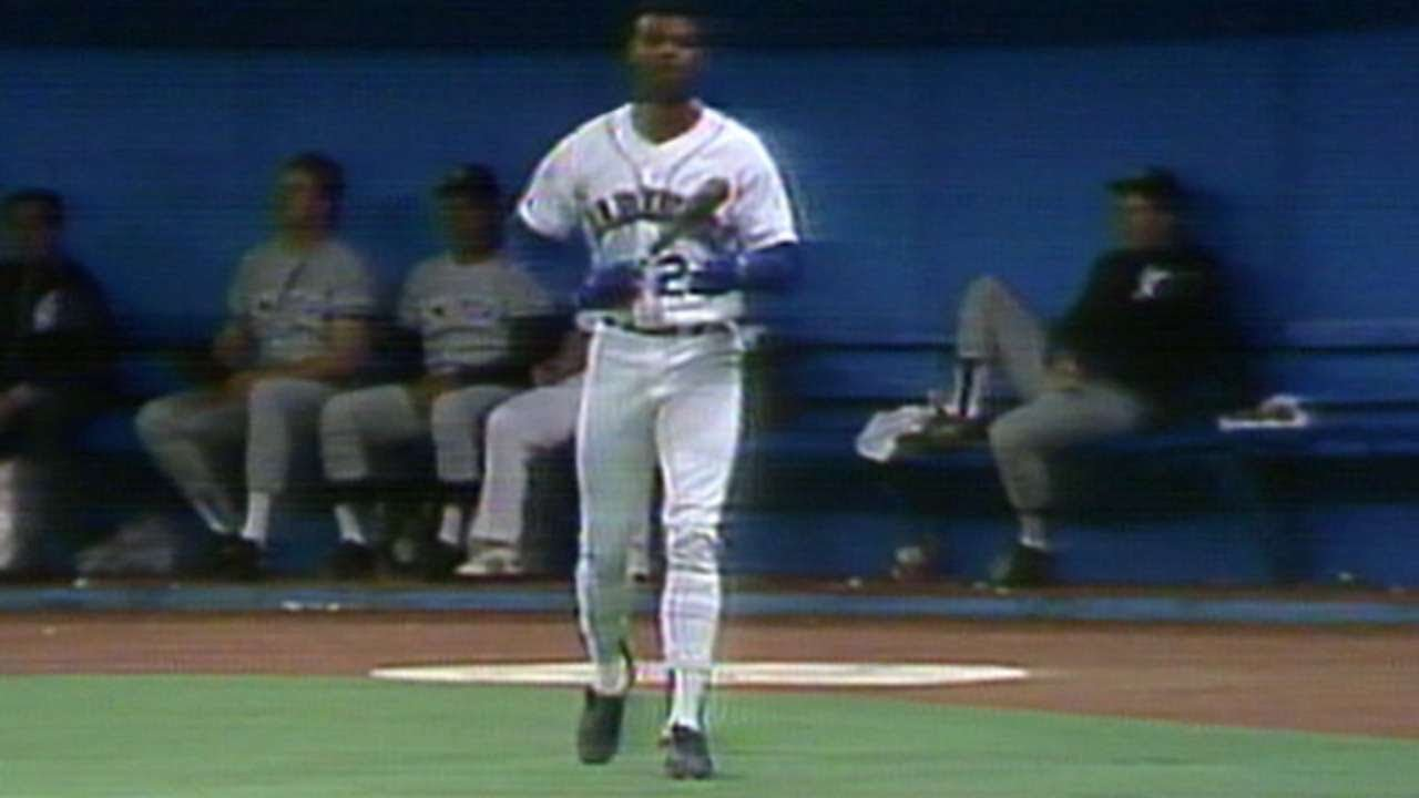 a52c3220e0 Mariners rookie Griffey Jr. hits an inside-the-park home run - YouTube