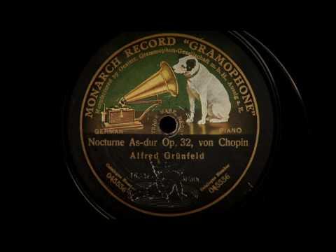 Alfred Grünfeld plays Chopin & Schubert
