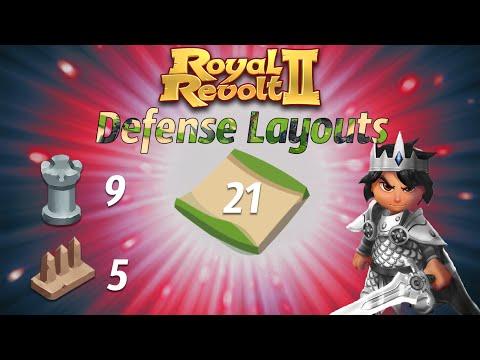 Royal Revolt 2 - Defense Layouts Level 4 [Easy]