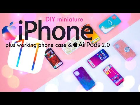 DIY - How to Make: Miniature iPhone 11 Pro Max PLUS Air Pods 2.0 & Real Phone Case