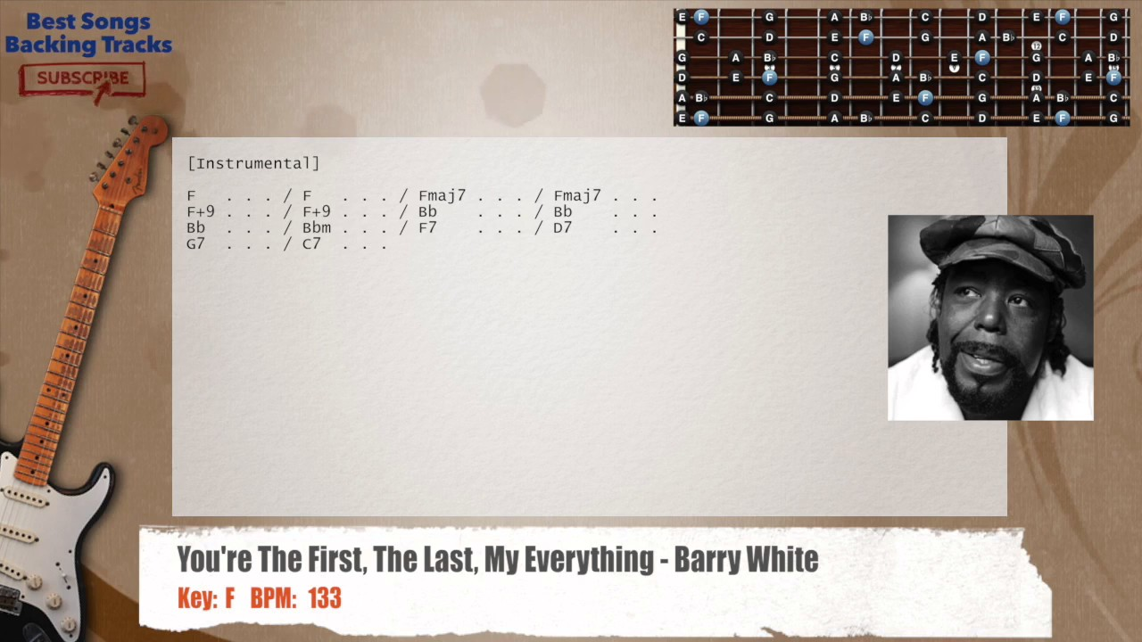 Youre The First The Last My Everything Barry White Guitar Backing