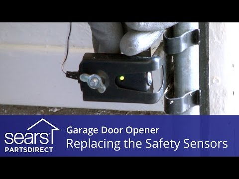 Replacing the Safety Sensors on a Garage Door Opener