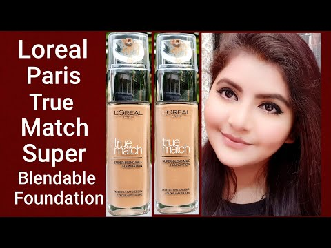 LOreal Paris true match Super Blendable Foundation review & demo | RARA | foundation |