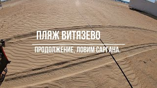 Пляж Витязево Продолжение ловим Саргана