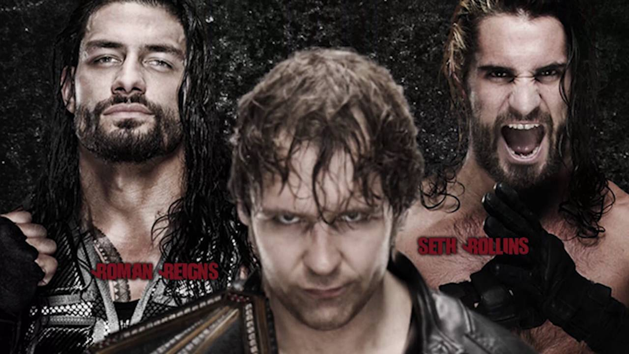 poster wwe battleground 2016 dean ambrose vs seth rollins vs roman