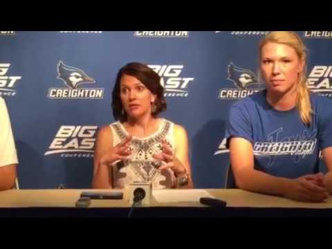 Creighton Volleyball After Marquette (9/23/16)