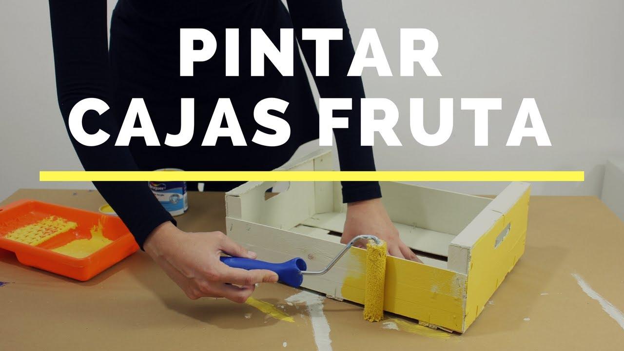 Cmo pintar cajas de madera de fruta YouTube