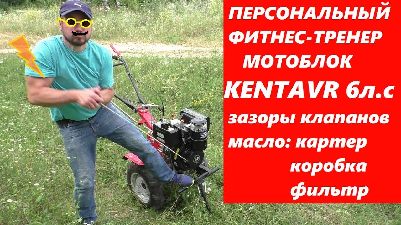 ПЕРВЫЙ ПУСК / МОТОБЛОК Кентавр МБ 2060Д / масла зазоры клапанов