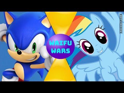 Sonic VS Rainbow Dash! (Sega Vs My Little Pony) Waifu Wars Bonus Episode 3