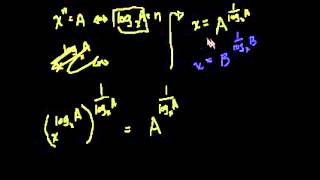 Док-тво формулы перехода к новому основанию логарифма