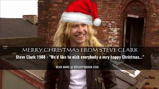 Merry Christmas from Def Leppard's Steve Clark (1988 Audio)