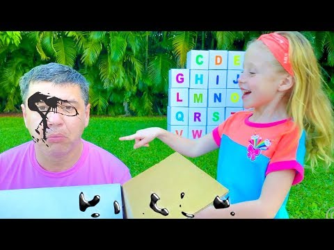 Настя и папа учат Английский Алфавит