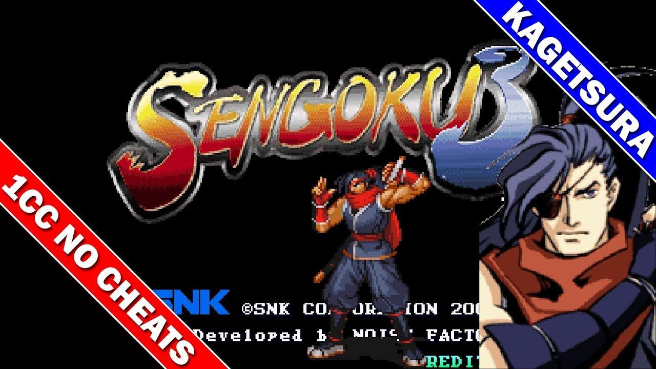 Sengoku 3 1CC Level 8 (Max) Difficulty (Kagetsura) [Neo Geo] [Arcade] / 戦国伝承2001