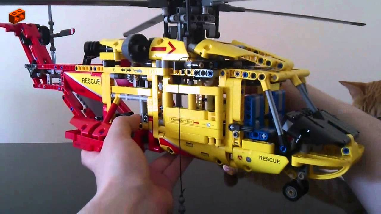 lego technic 9396 helicopter review 3 4 main model youtube. Black Bedroom Furniture Sets. Home Design Ideas