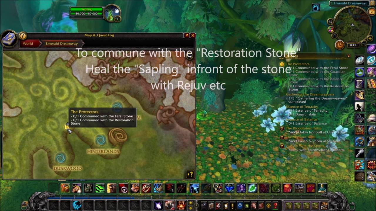 how to get to the druid class hall