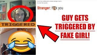 GUY GETS TRIGGERED BY GIRL VOICE TROLL ON OMEGLE!-Omegle Girl Voice Trolling