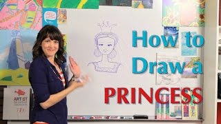 How to draw a Princess - Great Artist Mom - Guided Drawing