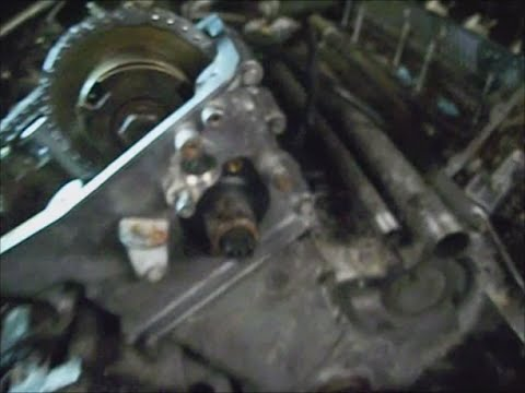 BMW E39 `02 w M62TU pt.6 oil pan, lower and upper timing cover, tensioner plunger install
