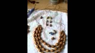 My Peace Of Jewelry Olive Wood Bead Necklace - In Process