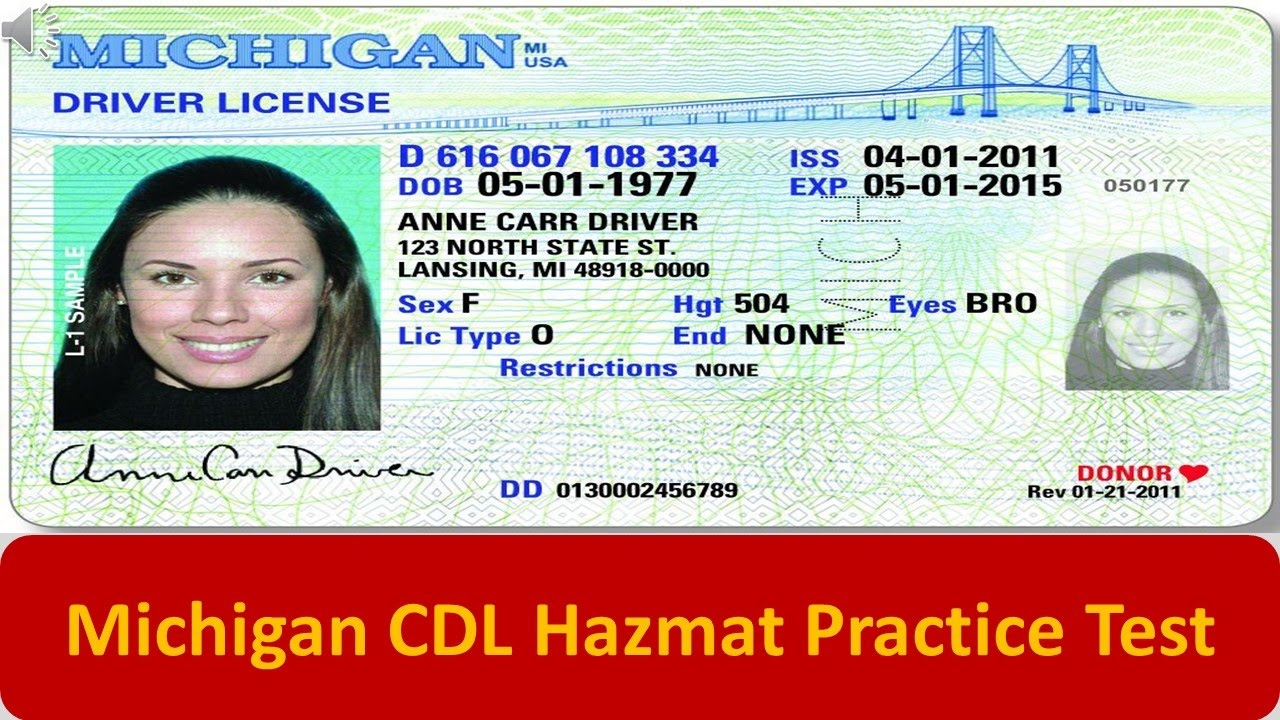 picture regarding Cdl Hazmat Practice Test Printable titled Michigan CDL Hazmat Teach Check