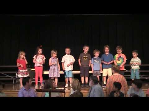 Westfield Friends School Pre-K performance at the final awards ceremony